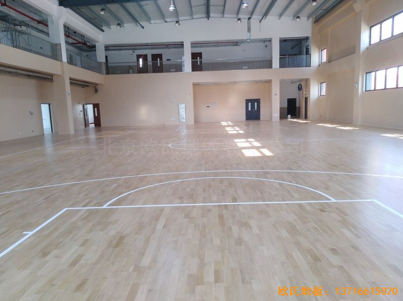 上海嘉定区大居小学体育地板安装案例