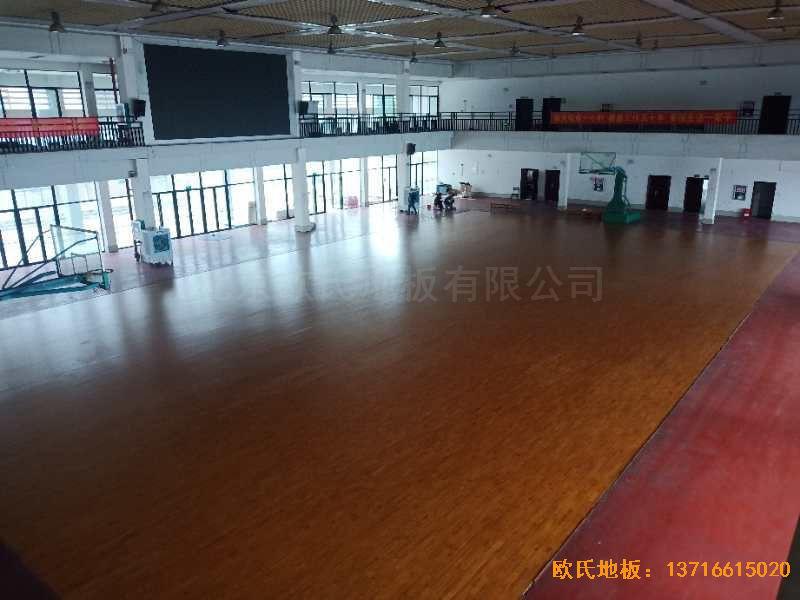 广西来宾市较好的中学运动木地板安装案例