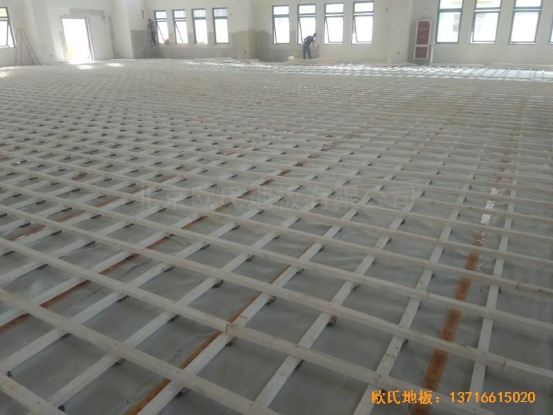 山东济南唐冶城篮球馆运动木地板铺装案例1