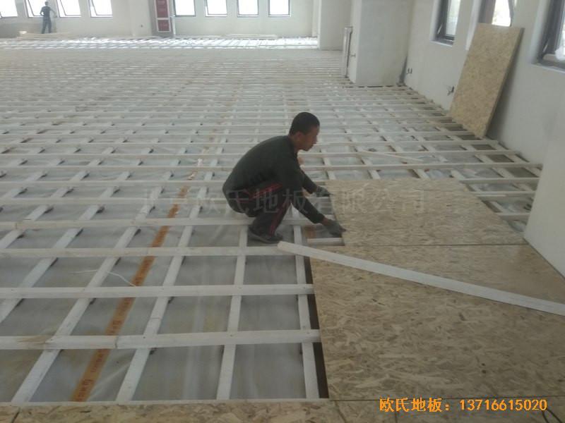 山东济南唐冶城篮球馆运动木地板铺装案例2