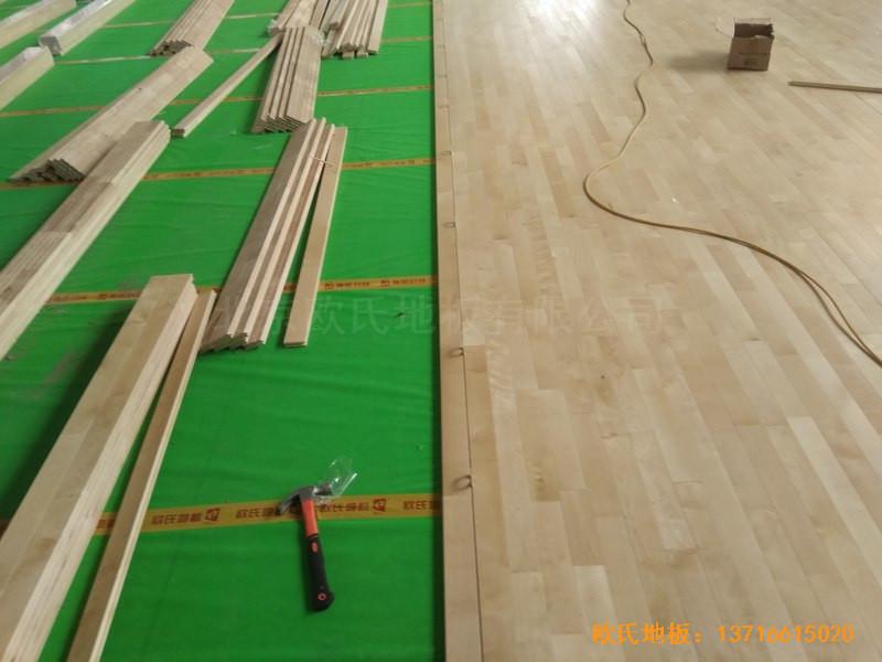 山东济南唐冶城篮球馆运动木地板铺装案例4