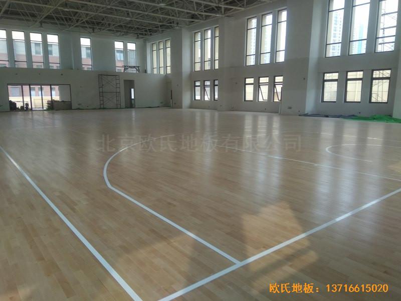 山东济南唐冶城篮球馆运动木地板铺装案例5