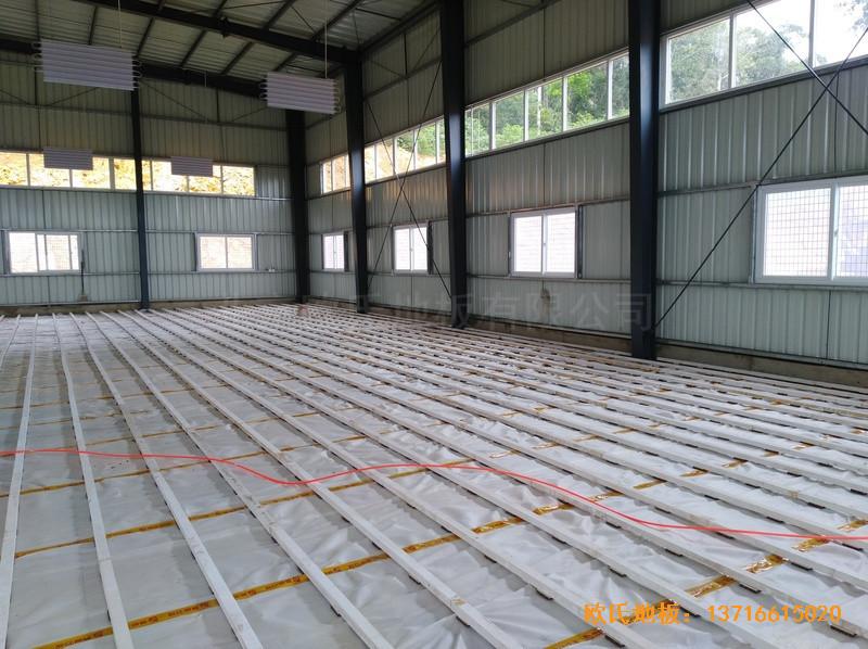 巴布亚新几内亚羽毛球馆运动地板安装案例0