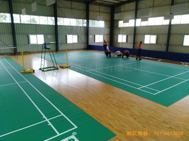 巴布亚新几内亚羽毛球馆运动地板安装案例4
