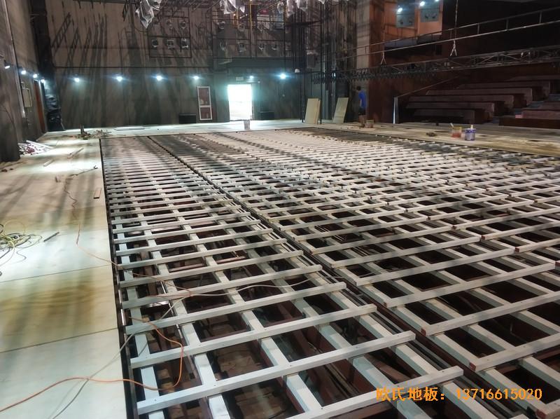 杭州职工之家舞台运动地板铺设案例1