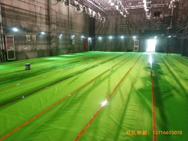 杭州职工之家舞台运动地板铺设案例2