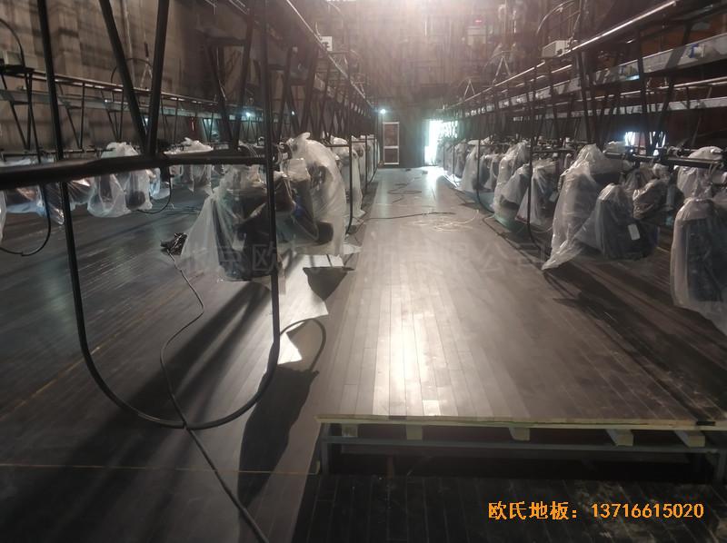 杭州职工之家舞台运动地板铺设案例3