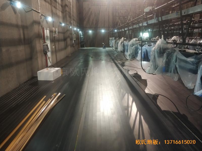 杭州职工之家舞台运动地板铺设案例4