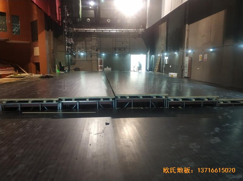 杭州职工之家舞台运动地板铺设案例5