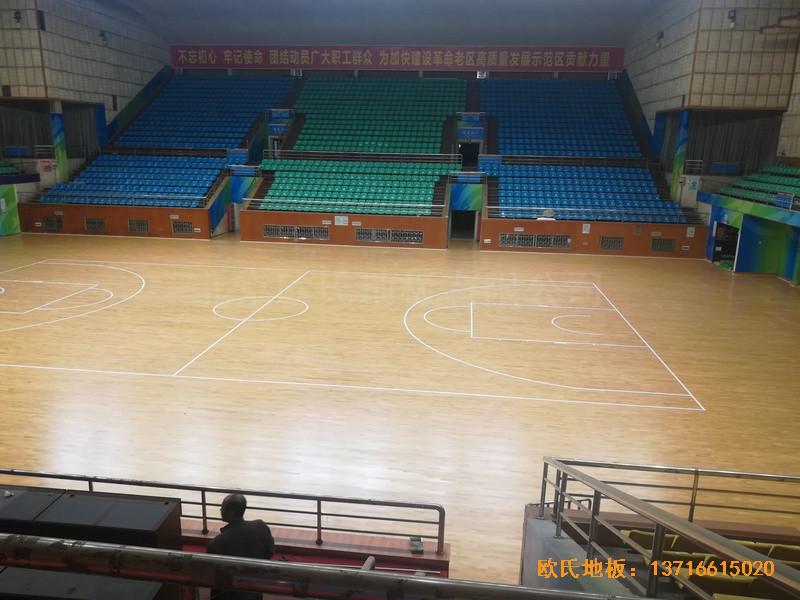 赣州体育馆体育地板铺装案例1