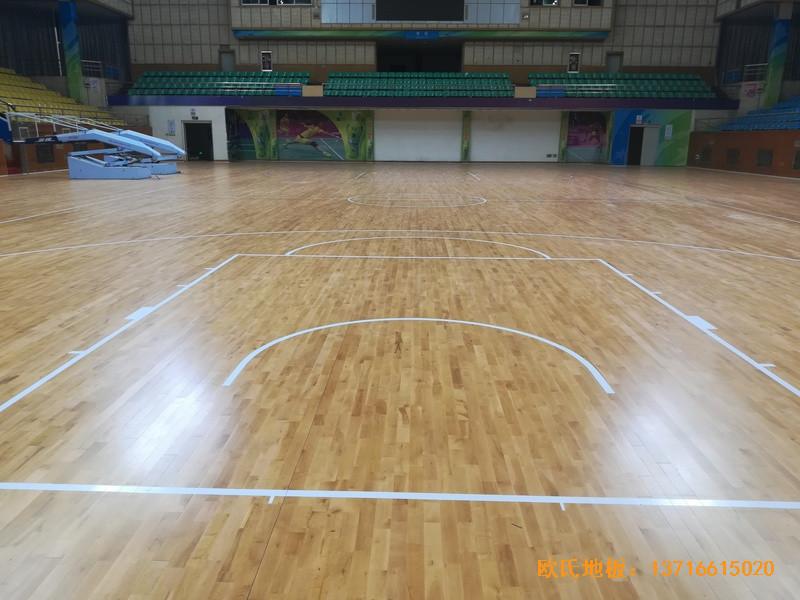 赣州体育馆体育地板铺装案例2