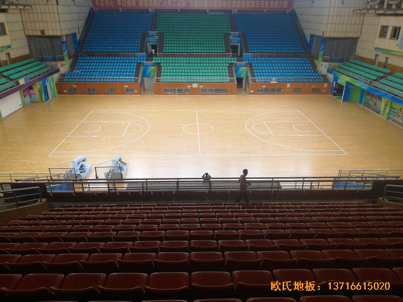 赣州体育馆体育地板铺装案例4