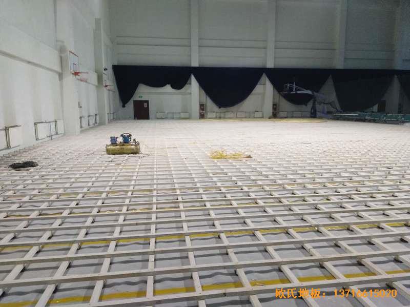 北京房山区燕山体育馆体育地板铺装案例1