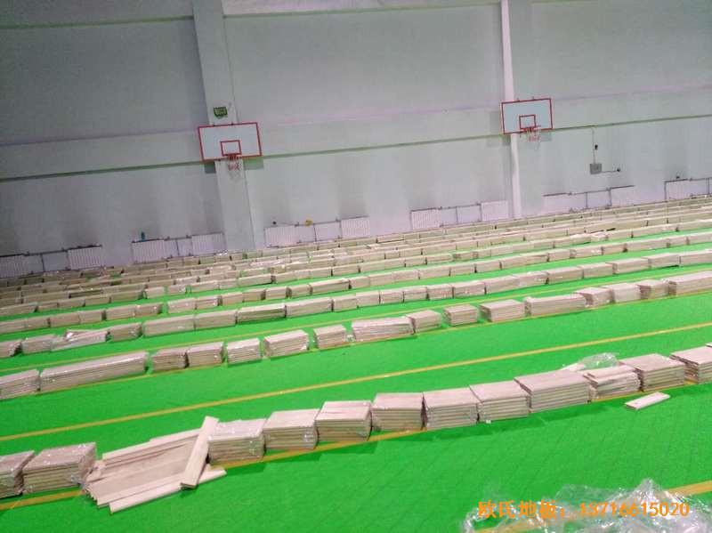 北京房山区燕山体育馆体育地板铺装案例2