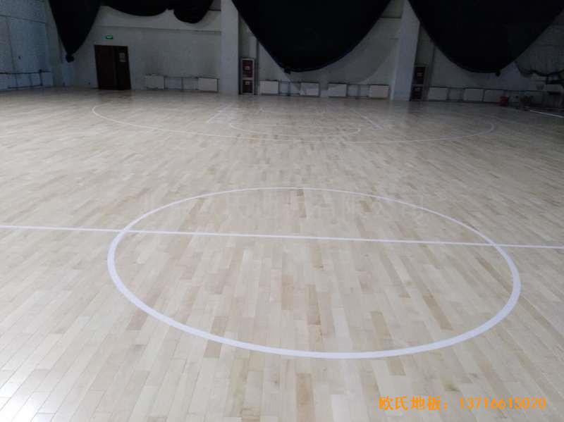 北京房山区燕山体育馆体育地板铺装案例4