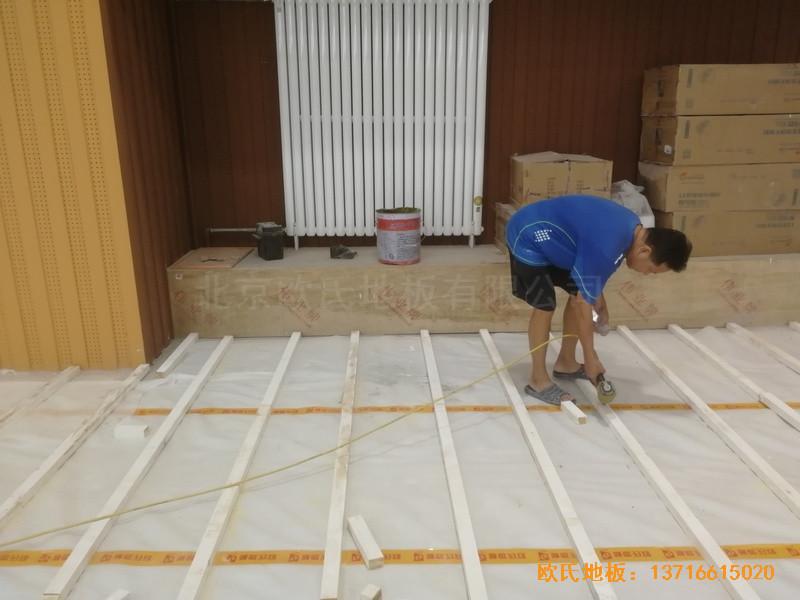 北京昌平新东方体育馆体育地板铺设案例1