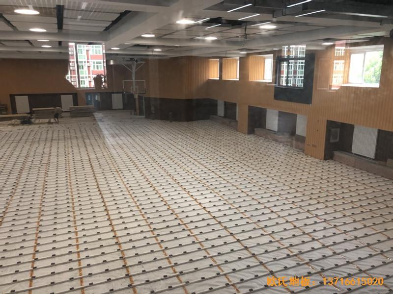 北京昌平新东方体育馆体育地板铺设案例2