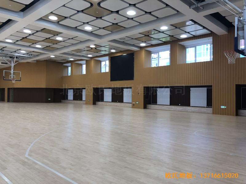 北京昌平新东方体育馆体育地板铺设案例3