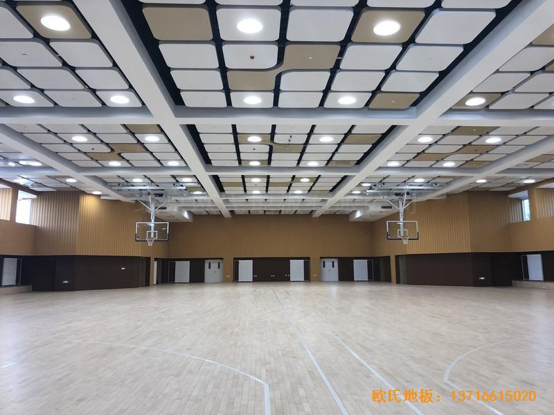 北京昌平新东方体育馆体育地板铺设案例4