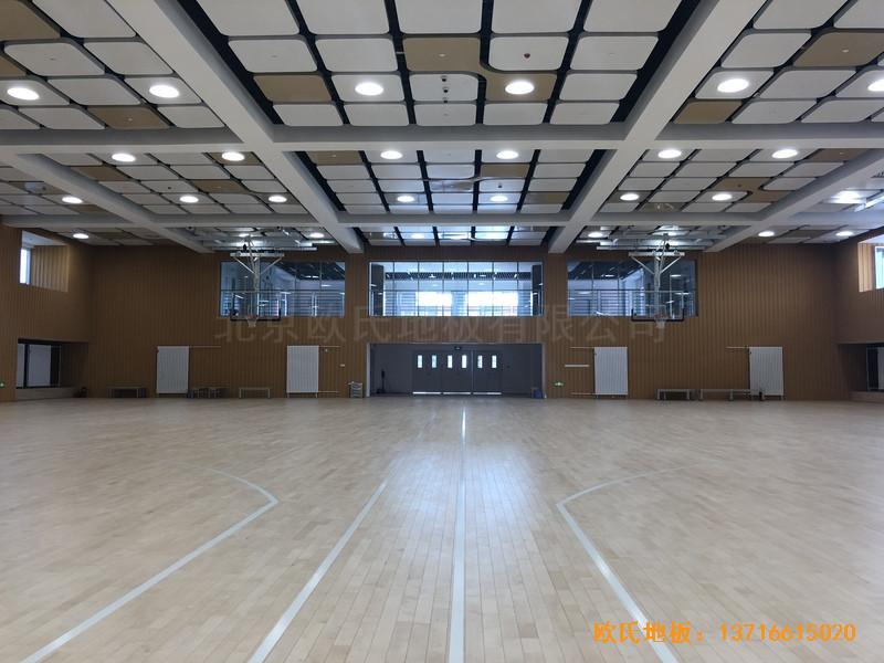 北京昌平新东方体育馆体育地板铺设案例5