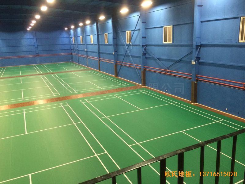 北京莲石羽羽毛球俱乐部体育地板施工案例2