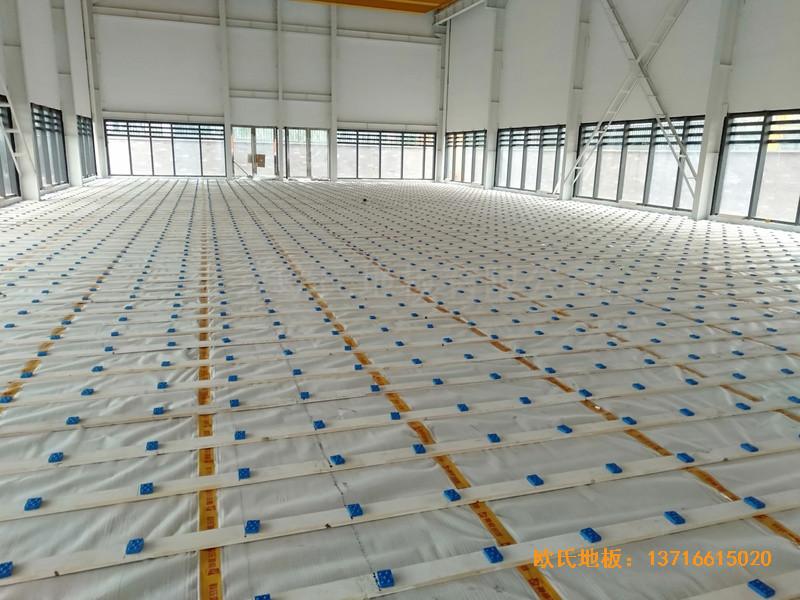 武汉青山区江滩体育馆体育地板施工案例1