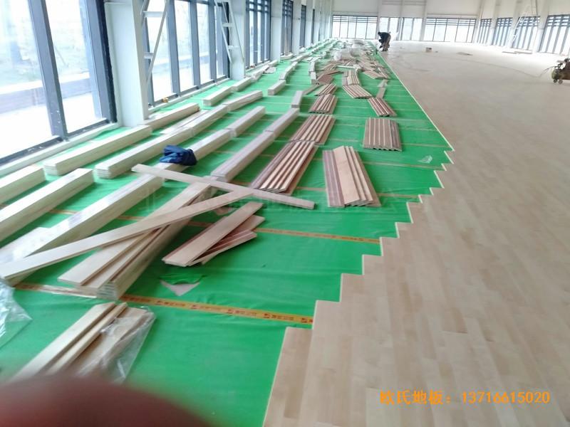 武汉青山区江滩体育馆体育地板施工案例3