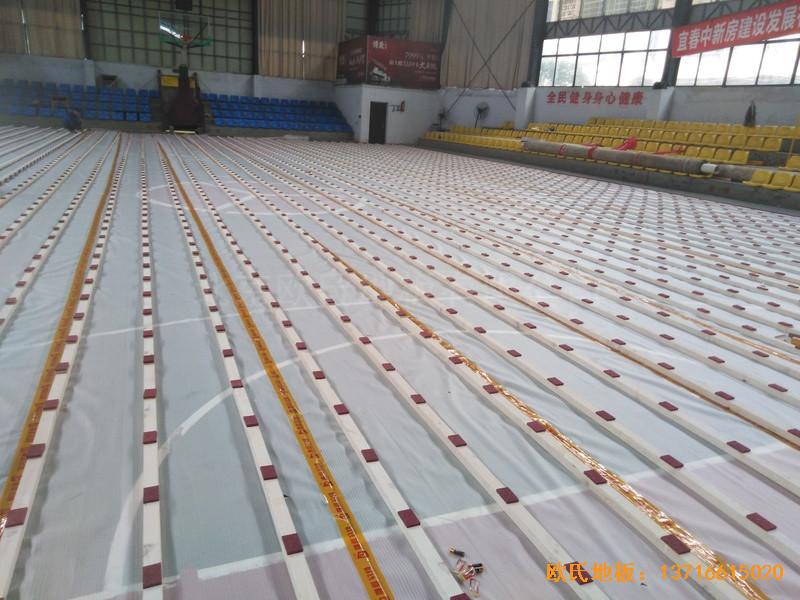 江西宜春公路局体育馆体育地板铺设案例1