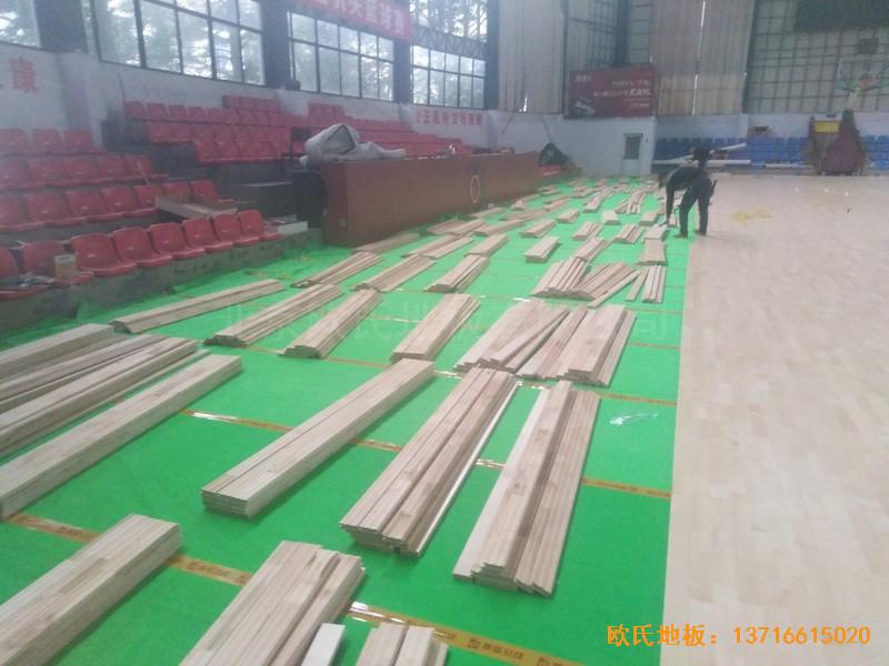 江西宜春公路局体育馆体育地板铺设案例2