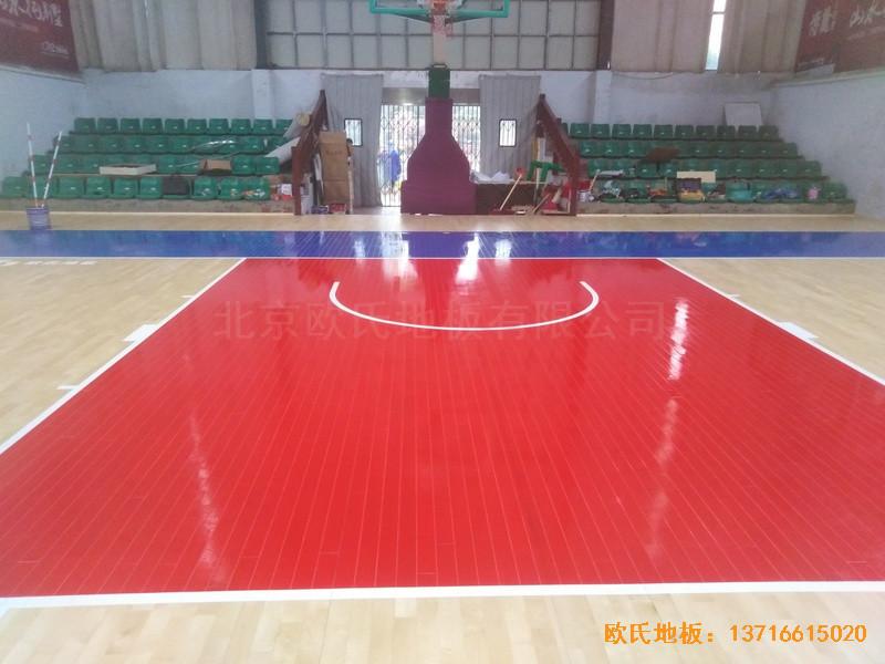 江西宜春公路局体育馆体育地板铺设案例5
