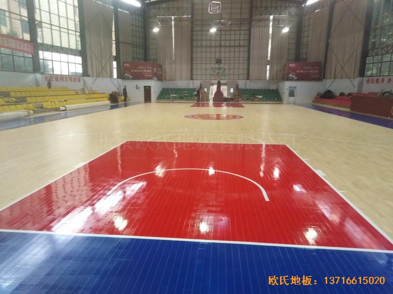 江西宜春公路局体育馆体育地板铺设案例6