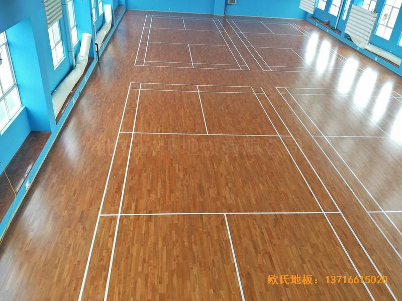 云南公安局小区羽毛球馆运动木地板安装案例4