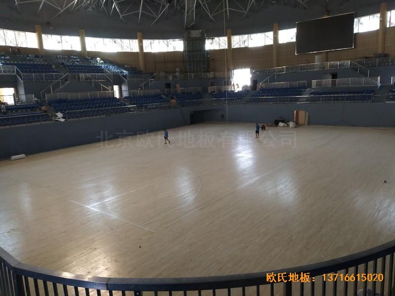 湖南黄花坪体育馆运动地板施工案例0