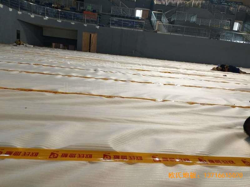 湖南黄花坪体育馆运动地板施工案例1