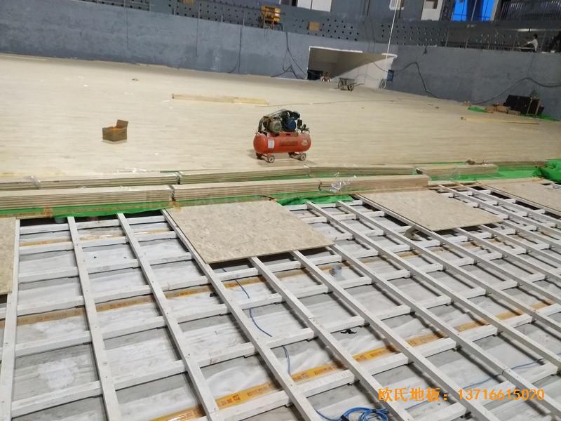 湖南黄花坪体育馆运动地板施工案例2