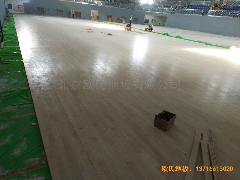 湖南黄花坪体育馆运动地板施工案例3