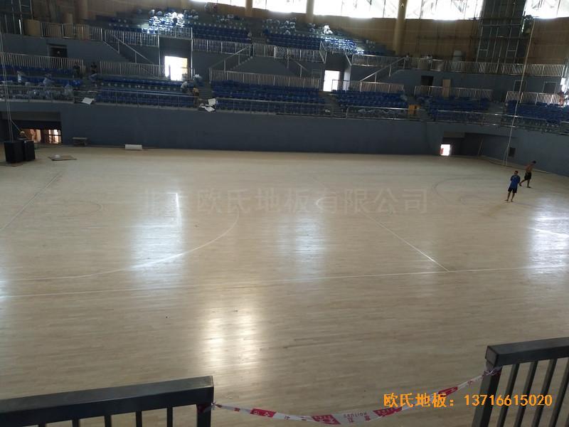 湖南黄花坪体育馆运动地板施工案例4