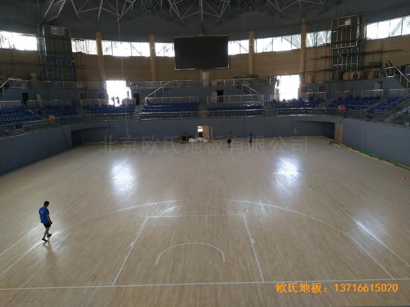 湖南黄花坪体育馆运动地板施工案例5