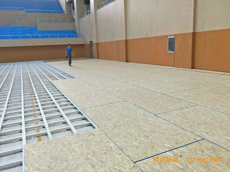 云南楚雄医专学院篮球馆运动地板铺装案例2