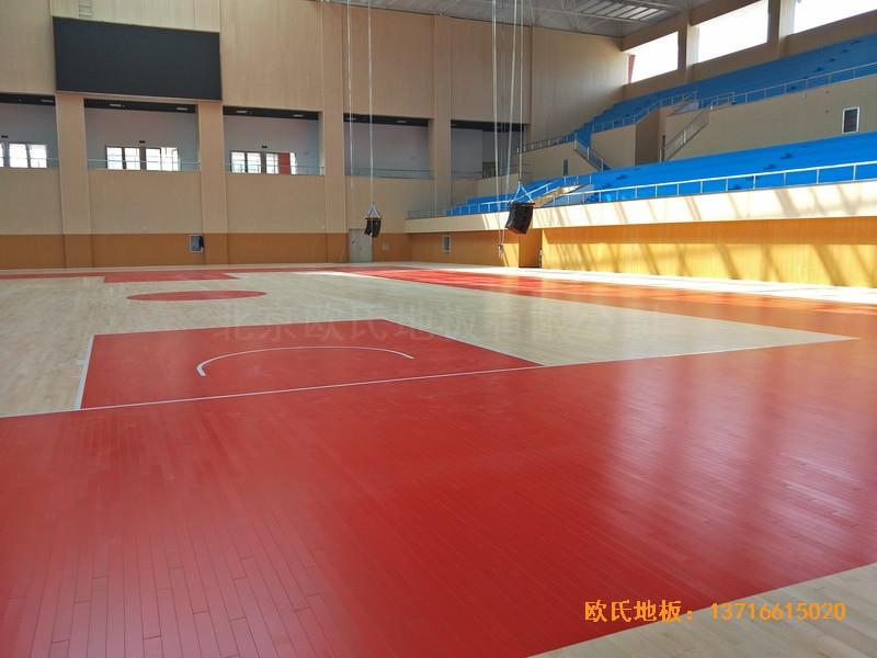 云南楚雄医专学院篮球馆运动地板铺装案例5