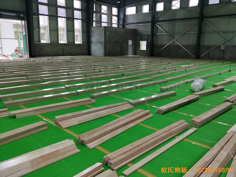 四川阿坝州马尔康消防支队篮球馆体育地板铺装案例2