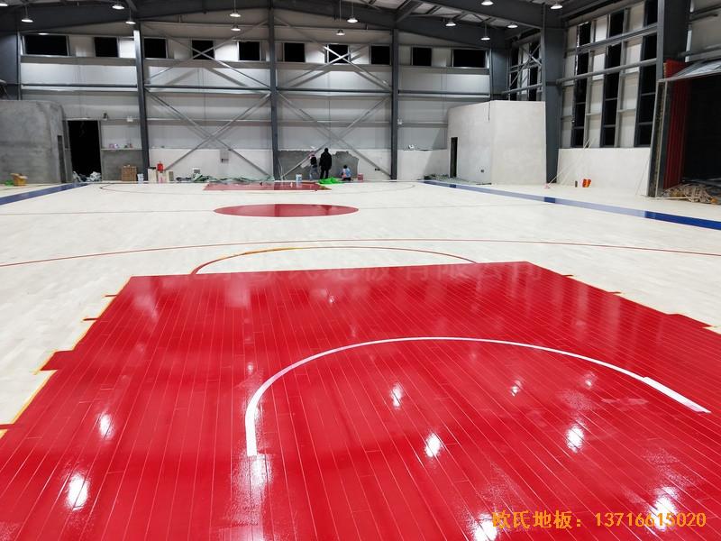 四川阿坝州马尔康消防支队篮球馆体育地板铺装案例5