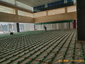 杭州26号地商务金融体育木地板安装案例