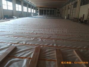 陕西榆林神木何家塔煤矿运动地板铺设案例