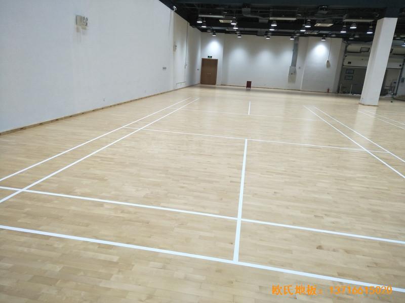 上海铺东宁桥路669号体育馆运动地板铺装案例