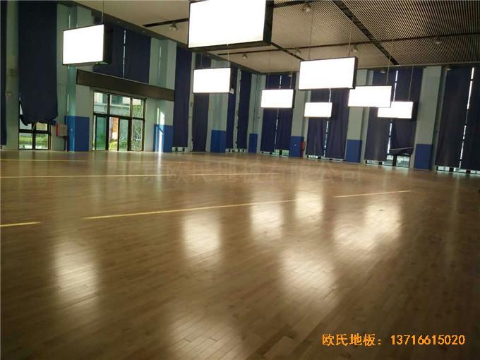 广东珠海市中航花园羽毛球馆运动木地板铺装案例