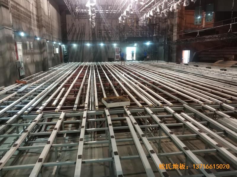 杭州职工之家舞台运动地板铺设案例