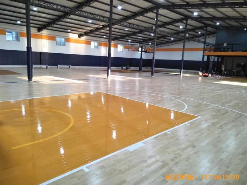 北京game on篮球馆体育地板铺设案例