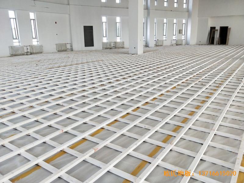 北京房山长阳小学篮球训练馆运动木地板铺设案例