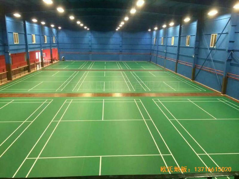 北京莲石羽羽毛球俱乐部体育地板施工案例